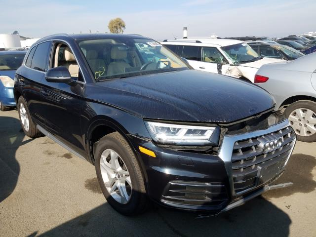 Salvage cars for sale from Copart Martinez, CA: 2018 Audi Q5 Premium