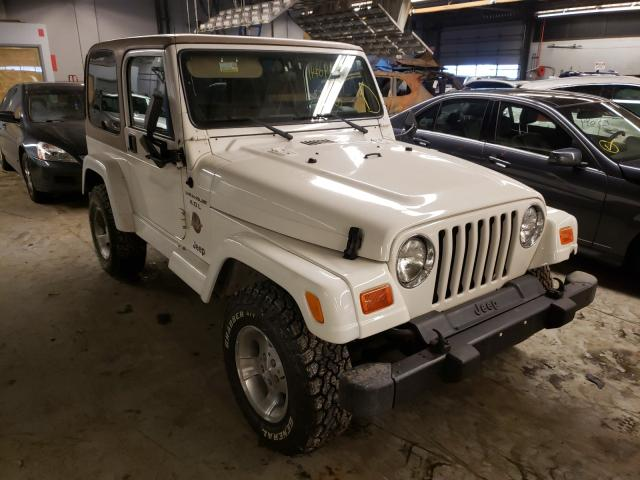 Salvage cars for sale from Copart Wheeling, IL: 2000 Jeep Wrangler