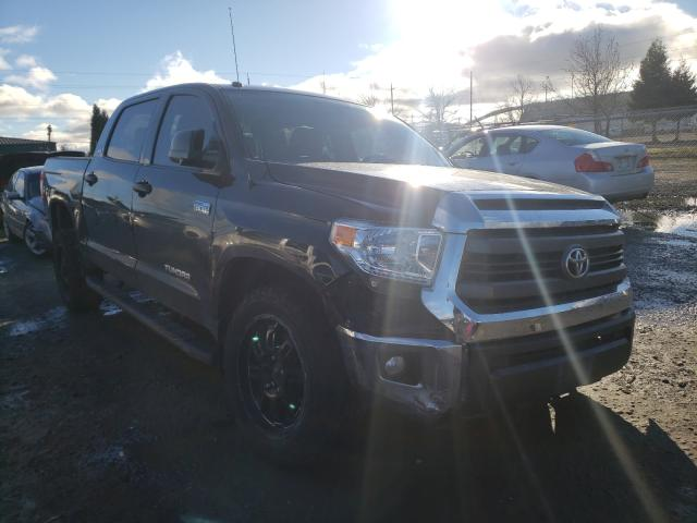 Salvage cars for sale from Copart Eugene, OR: 2015 Toyota Tundra CRE