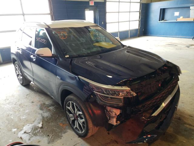 Salvage cars for sale from Copart Indianapolis, IN: 2021 KIA Seltos SX