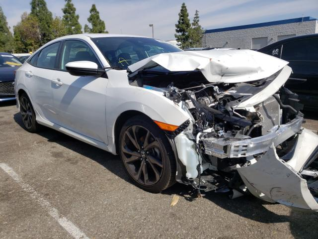 Salvage cars for sale from Copart Rancho Cucamonga, CA: 2020 Honda Civic Sport