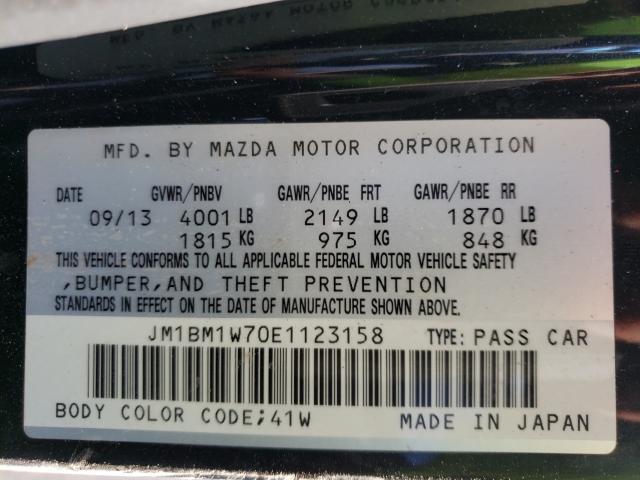 2014 MAZDA 3 GRAND TO JM1BM1W70E1123158