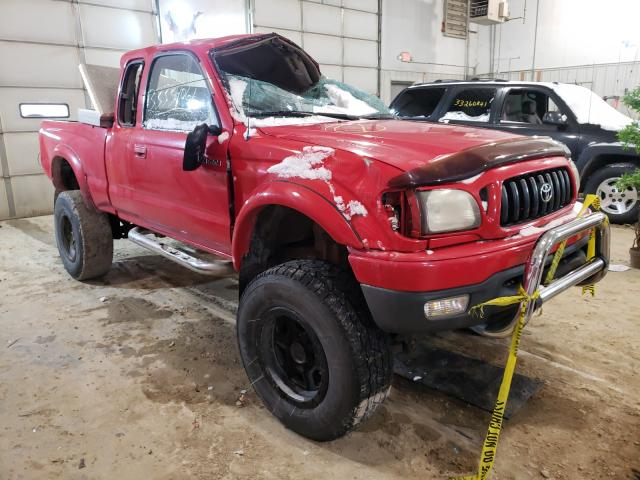 Salvage cars for sale from Copart Columbia, MO: 2002 Toyota Tacoma XTR