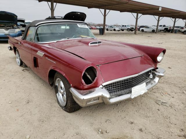 Salvage cars for sale from Copart Temple, TX: 1957 Ford Thunderbird