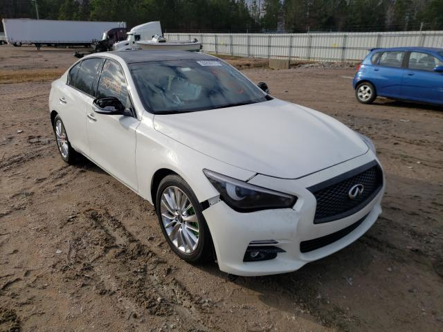 Salvage cars for sale from Copart Charles City, VA: 2019 Infiniti Q50 Luxe
