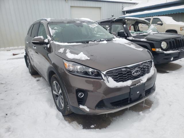 Salvage cars for sale from Copart Pekin, IL: 2019 KIA Sorento EX