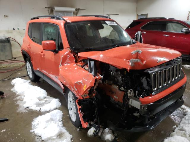 Salvage cars for sale from Copart Portland, MI: 2017 Jeep Renegade L