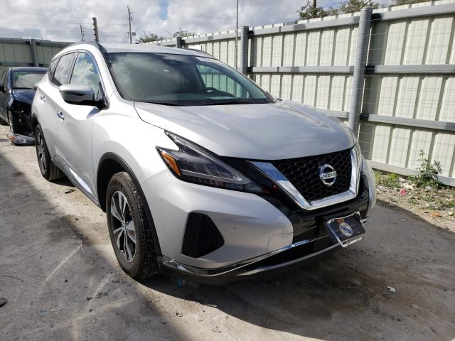 Nissan Murano SV salvage cars for sale: 2020 Nissan Murano SV