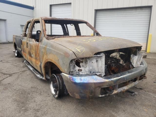 Salvage cars for sale from Copart Woodburn, OR: 2002 Ford F350 SRW S