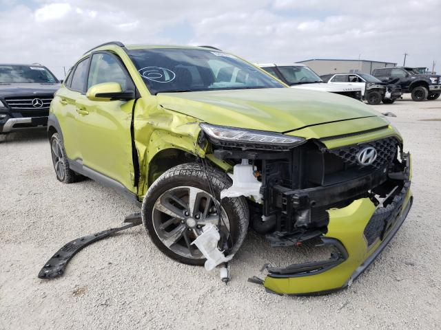 Salvage cars for sale from Copart San Antonio, TX: 2019 Hyundai Kona Ultim