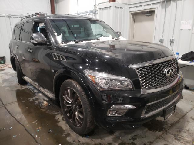 Salvage SUVs for sale at auction: 2016 Infiniti QX80