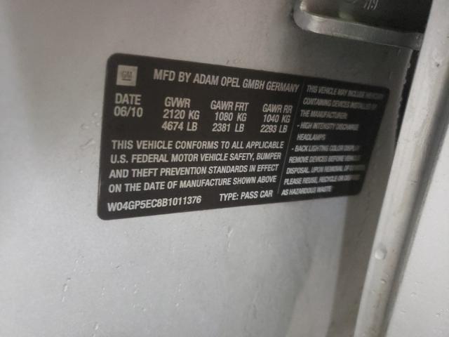 2011 BUICK REGAL CXL W04GP5EC8B1011376