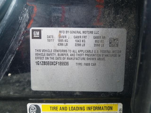 2012 CHEVROLET MALIBU LS 1G1ZB5E0XCF189936