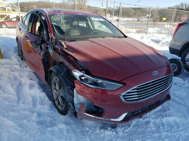 Salvage cars for sale from Copart Madison, WI: 2020 Ford Fusion SEL