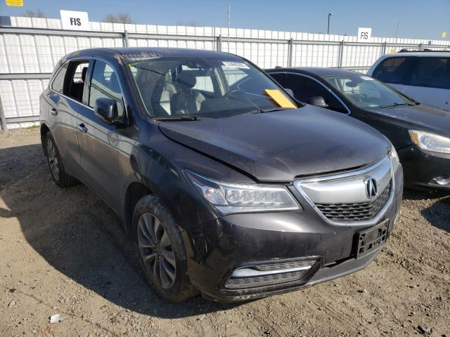 Acura salvage cars for sale: 2016 Acura MDX Techno