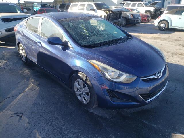 Salvage cars for sale from Copart Anthony, TX: 2016 Hyundai Elantra SE
