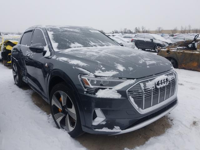 Salvage cars for sale from Copart Bridgeton, MO: 2019 Audi E-TRON PRE