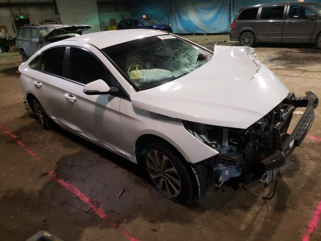 Salvage cars for sale from Copart Dyer, IN: 2015 Hyundai Sonata Sport