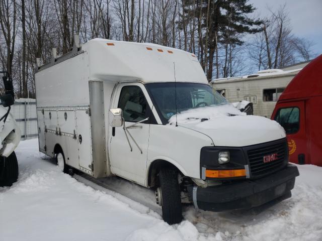 Salvage trucks for sale at Warren, MA auction: 2003 GMC Savana CUT