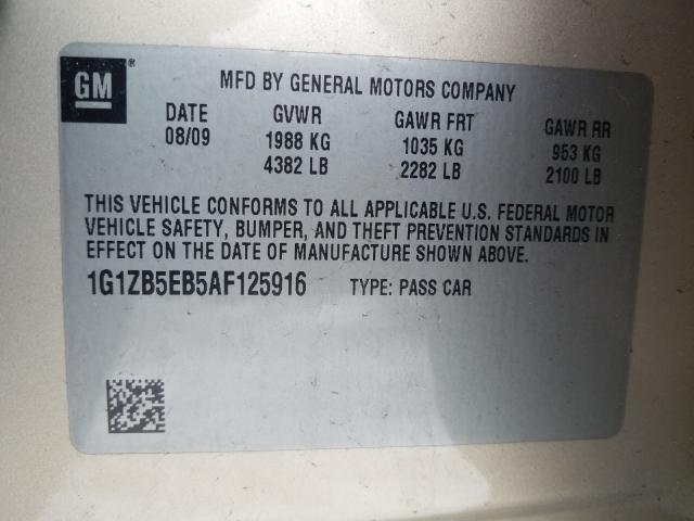 2010 Chevrolet MALIBU | Vin: 1G1ZB5EB5AF125916