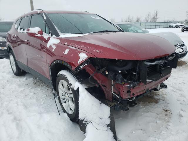 Salvage cars for sale from Copart Pekin, IL: 2019 Chevrolet Blazer 1LT