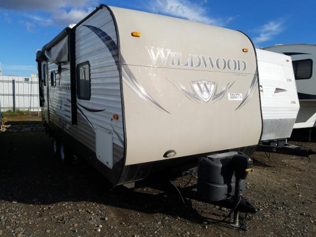 Salvage cars for sale from Copart Sacramento, CA: 2014 Wildcat Travel Trailer