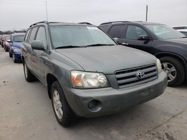 Salvage cars for sale from Copart Grand Prairie, TX: 2005 Toyota Highlander