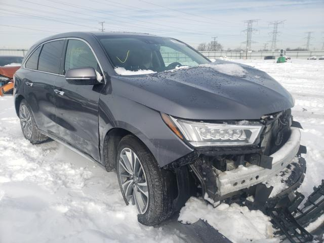Salvage cars for sale from Copart Elgin, IL: 2017 Acura MDX Techno