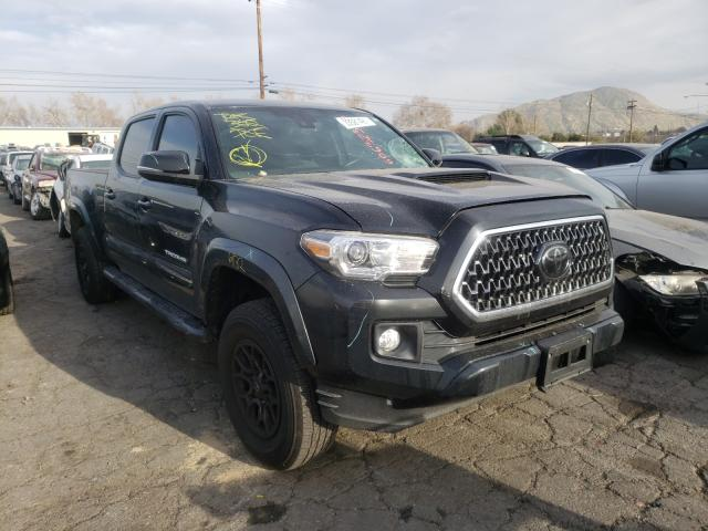 Salvage cars for sale from Copart Colton, CA: 2018 Toyota Tacoma DOU