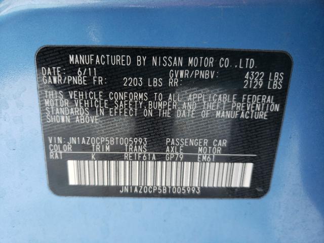 2011 Nissan LEAF   Vin: JN1AZ0CP5BT005993
