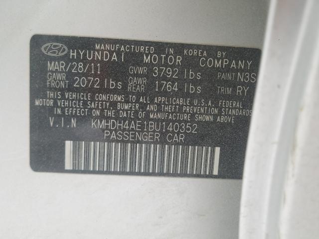 2011 HYUNDAI ELANTRA GL KMHDH4AE1BU140352