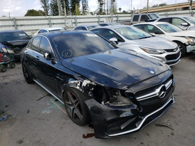 Salvage cars for sale from Copart Miami, FL: 2016 Mercedes-Benz C 63 AMG-S