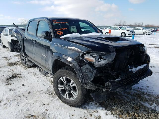 Salvage cars for sale from Copart Kansas City, KS: 2017 Toyota Tacoma DOU