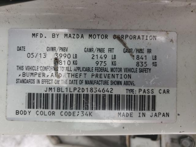 2013 MAZDA 3 I JM1BL1LP2D1834642