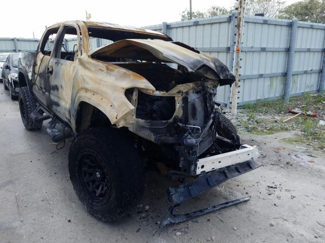 Salvage cars for sale from Copart Homestead, FL: 2021 Toyota Tacoma DOU