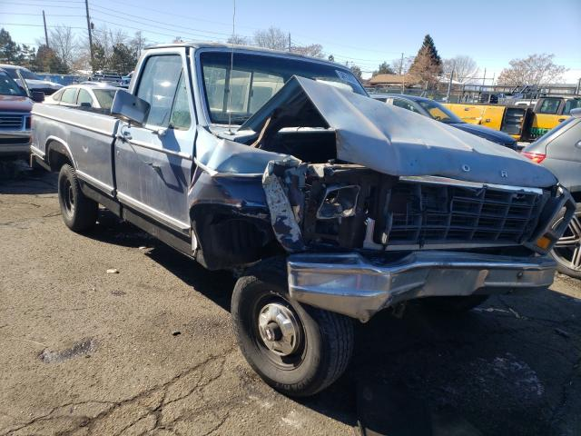 Salvage cars for sale from Copart Brighton, CO: 1981 Ford F150