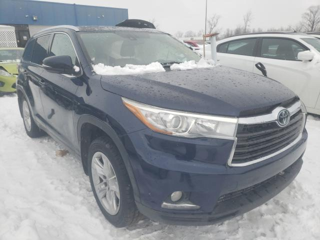 Salvage cars for sale from Copart Woodhaven, MI: 2015 Toyota Highlander
