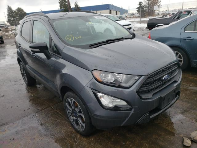 Salvage cars for sale from Copart Woodhaven, MI: 2020 Ford Ecosport S