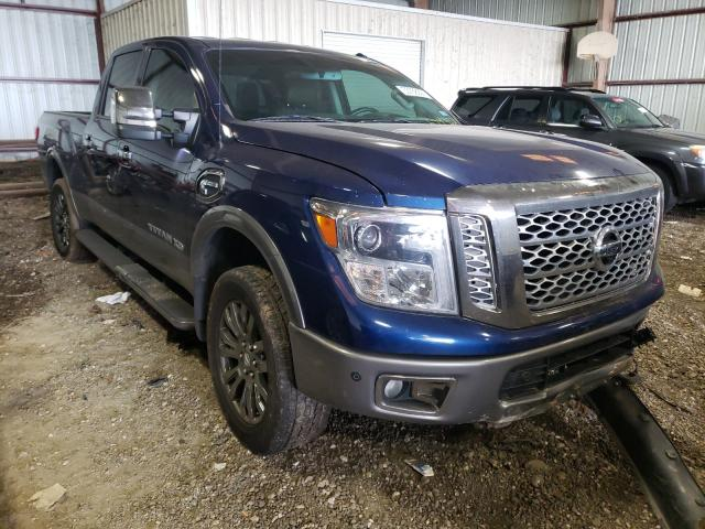 Salvage cars for sale from Copart Houston, TX: 2017 Nissan Titan XD S