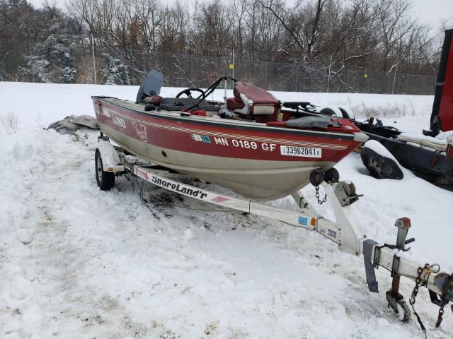 Lund salvage cars for sale: 1994 Lund Boat With Trailer