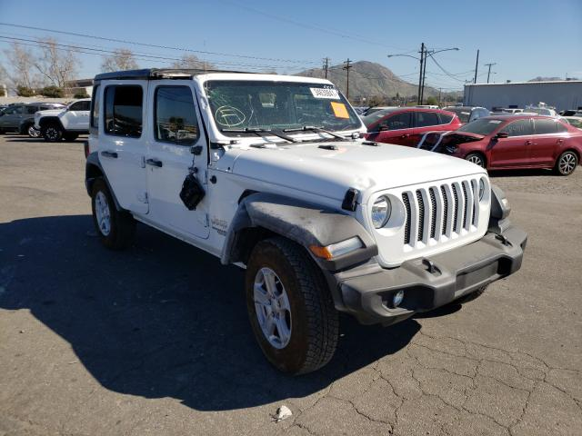 Salvage cars for sale from Copart Colton, CA: 2021 Jeep Wrangler U