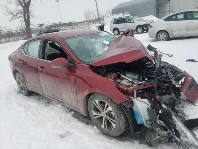 Salvage cars for sale from Copart Montreal Est, QC: 2020 Nissan Sentra SV
