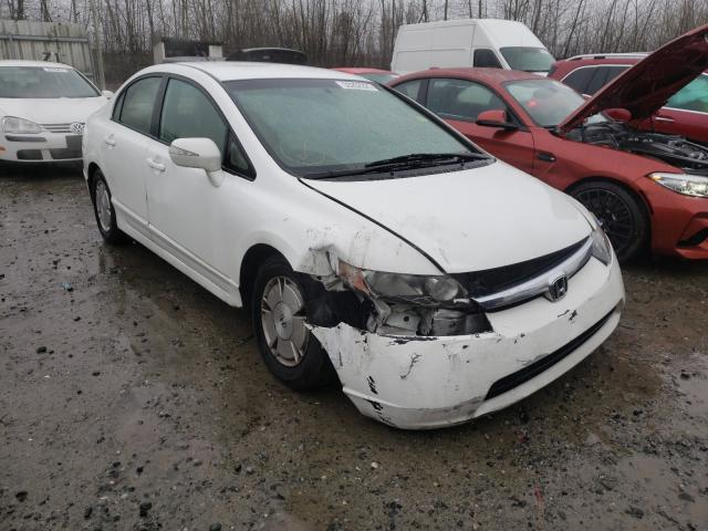 Salvage cars for sale from Copart Arlington, WA: 2008 Honda Civic Hybrid