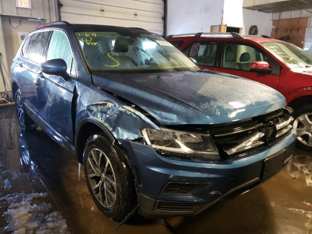 Salvage cars for sale from Copart Cudahy, WI: 2020 Volkswagen Tiguan SE