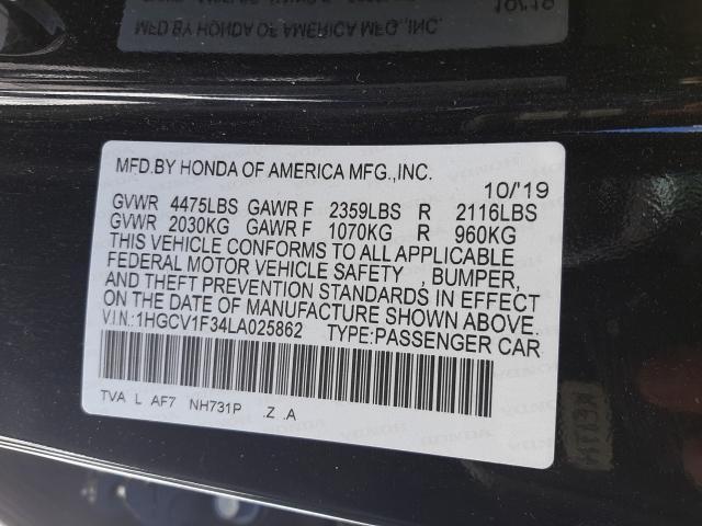 2020 HONDA ACCORD SPO 1HGCV1F34LA025862