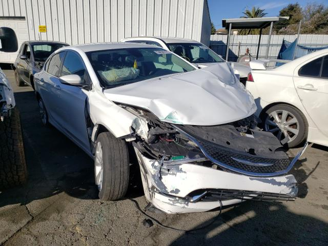 Salvage cars for sale from Copart Vallejo, CA: 2015 Chrysler 200 Limited