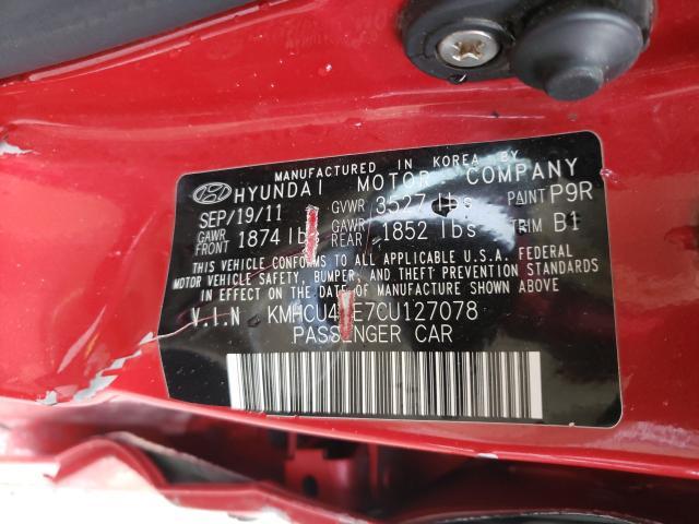2012 HYUNDAI ACCENT GLS KMHCU4AE7CU127078