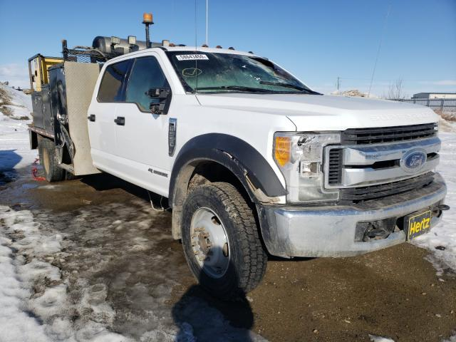 Salvage cars for sale from Copart Nisku, AB: 2017 Ford F550 Super