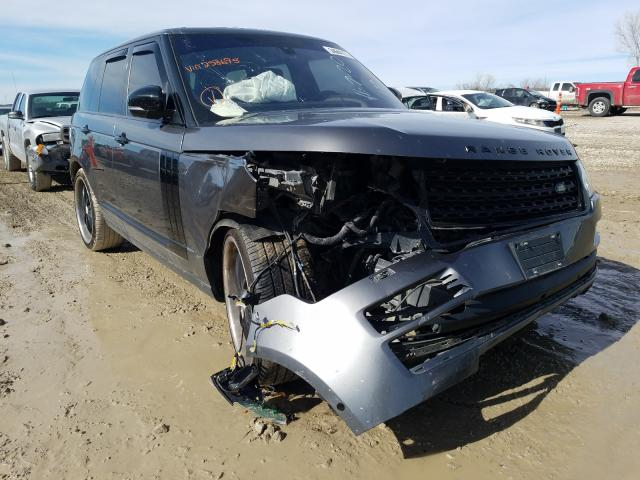 Salvage cars for sale from Copart Kansas City, KS: 2016 Land Rover Range Rover
