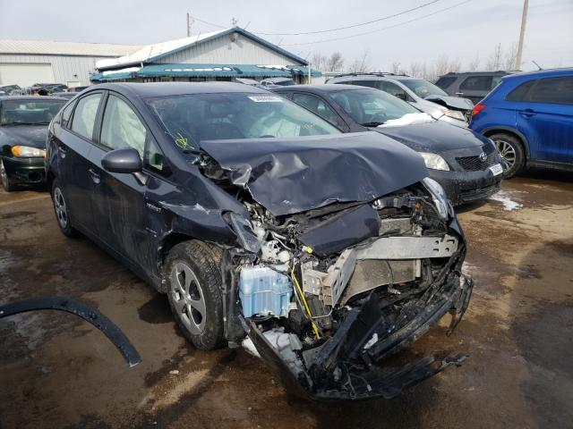 Salvage cars for sale from Copart Pekin, IL: 2015 Toyota Prius